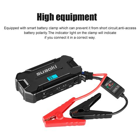 jump start with battery charger 15000mah jump starter emergency auto start power battery