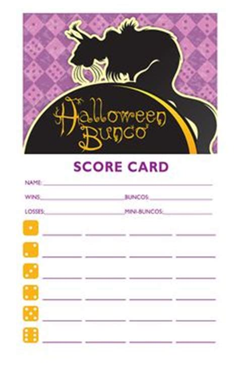 Bunco Punch Card Template by 1000 Images About Bunco On Bunco