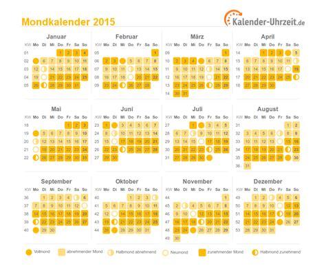Kalender Mit Mondphasen 2015 3711 mondkalender 2015 vollmond neumond mondphasen