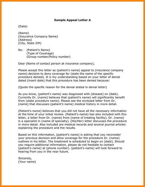 Aetna Appeal Letter Exle Credit Rejection Letter Letters Of Letter Sle