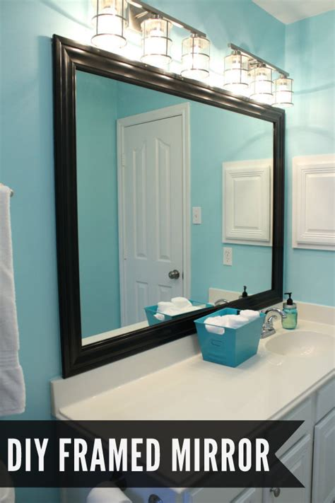 diy mirror frame bathroom bathroom makeover