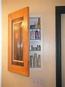 concealed bathroom cabinet picture frame door