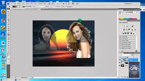 como crear foto montaje de luto como hacer un fotomontaje facil photoshop cs4 youtube