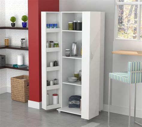 cupboard organizer tall kitchen cabinet storage white food pantry shelf