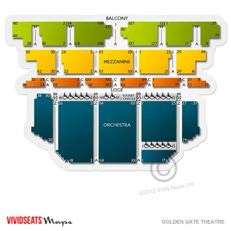 golden gate theater seating golden gate theatre tickets seats