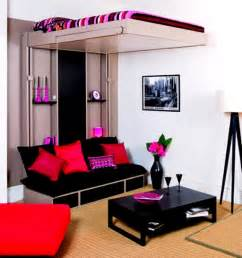 black sofa with storage in small room home interiors