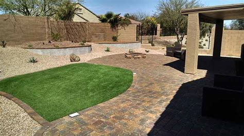 Backyard Landscaping Arizona by Synthetic Grass Archives Arizona Living Landscape Design