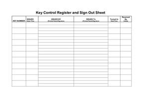 Key Register Template Free by Key Register And Sign Out Sheet In Word And Pdf