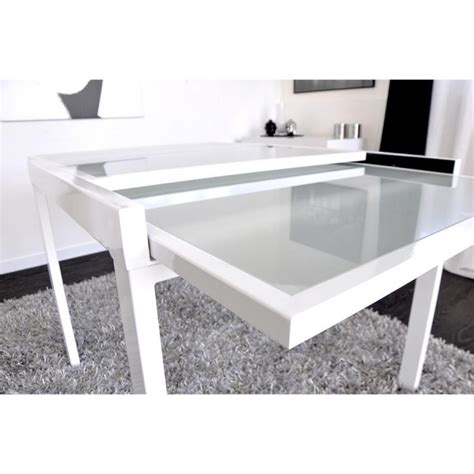 Table Blanche Extensible by Extend Table Extensible Blanche 90 180cm Achat Vente