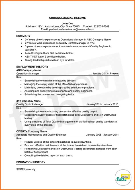 sample 1 page resume best resume collection