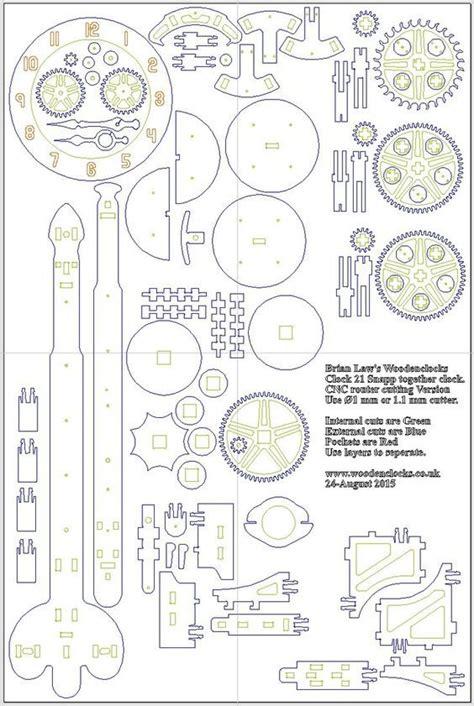 image result  wooden clock plans laser engranajes