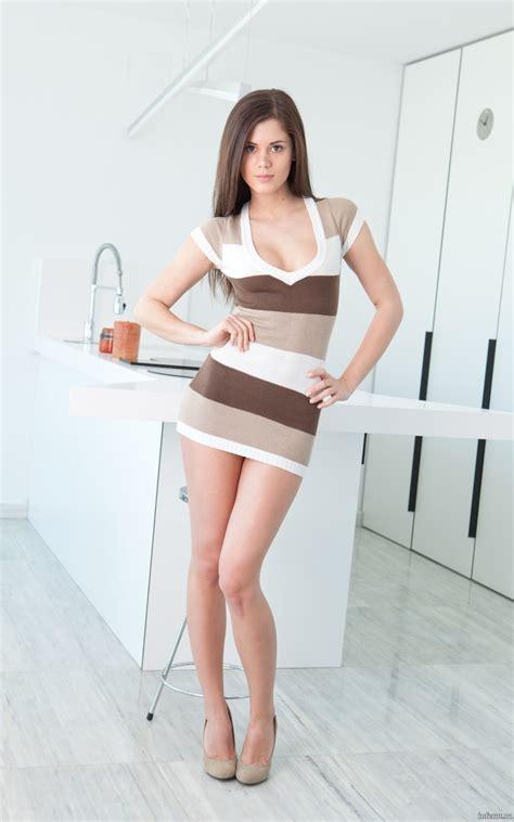 tight dress models hotminiskirts beautiful little caprice in a stripy mini