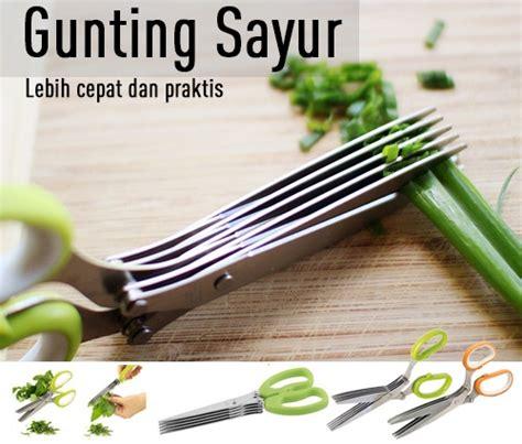 Gunting Sayur Unikgunting Dapur 5 Lapis Scissors 5 Layermhkn076 gunting sayur 5 lapis alat potong makanan dapur praktis sayuran pisau