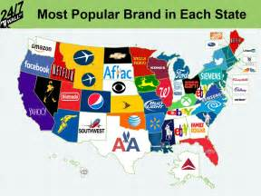 the most popular brand in each state 24 7 wall st