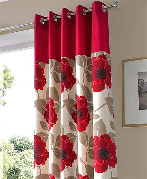 poppy kitchen curtains print curtain panel curtains 187 eyelet curtains