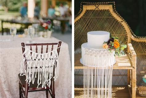 macrame decoracion decoraci 211 n de boda con macram 201 de bodas de una boda