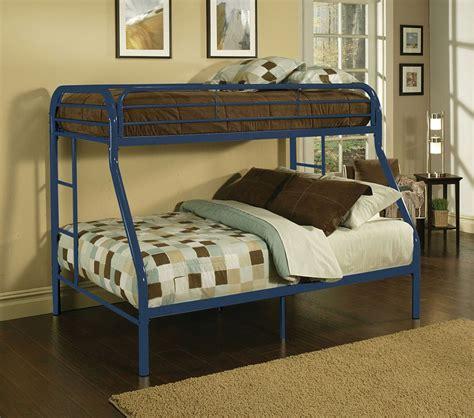 blue bunk bed dreamfurniture com 02053 blue finish twin full bunk bed