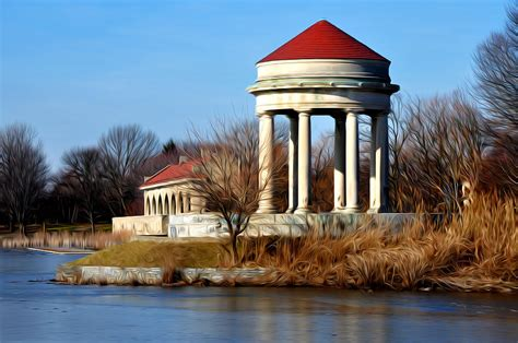bills boat house fdr park gazebo and boathouse photograph by bill cannon