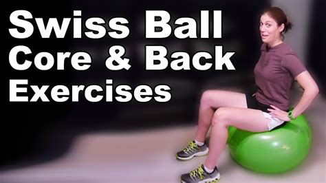 core   strengthening exercises stretches  swiss ball basic  doctor jo youtube