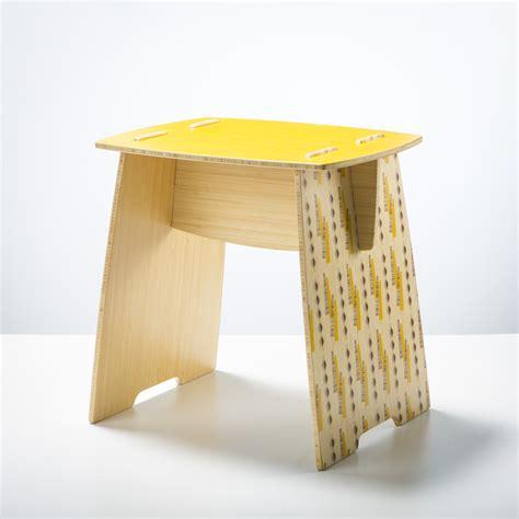 srd plywood bedside tables felt yooboo pew stool side table quot kowhai quot felt