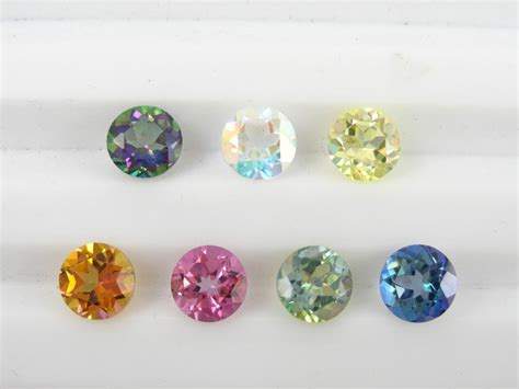 Topaz Gift Card Balance - loose 8mm round mystic topaz 6 colors available ebay
