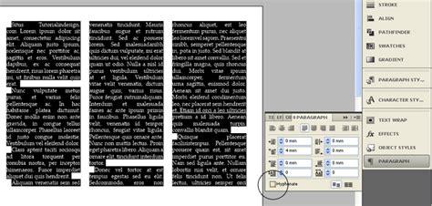tutorial indesign indonesia fungsi hyphenate pemenggalan suku kata di indesign
