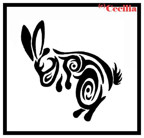 rabbit tribal tattoo designs 10 rabbit designs sles and ideas