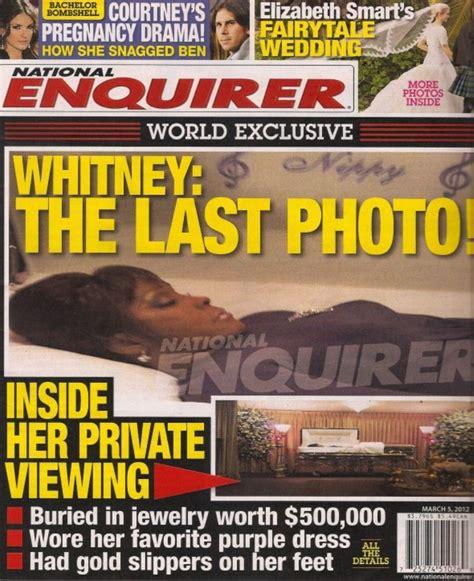 upclose national enquirer whitney houston photo in national enquirer whitney houston casket photo