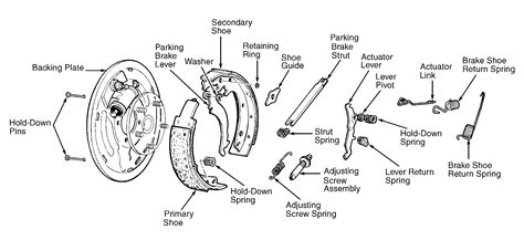 rear brake shoes diagram i need the diagrahm or picture of th rear brake shoe