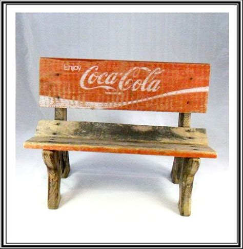 coca cola bench vintage coca cola crate wooden doll bench