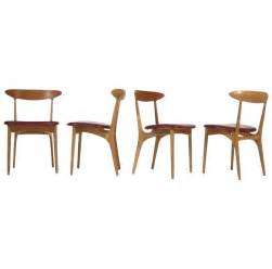 furniture mid century dining chairs with leather cushion