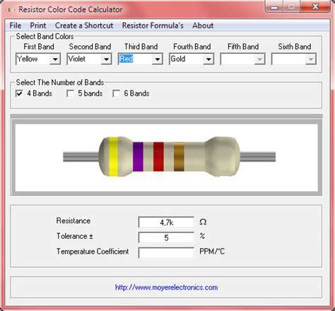resistor color calculator resistor colour code calculator