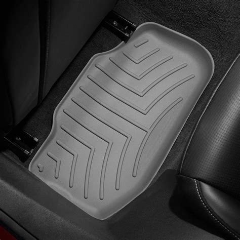 Molded Floor Mats For Cars by Weathertech 174 462672 Digitalfit 2nd Row Gray Molded Floor Liners