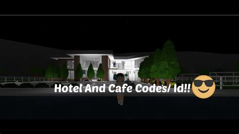 Welcome To Cafe welcome to bloxburg hotel and cafe decal id codes