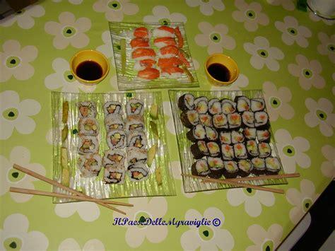 sushi fatto in casa sushi fatto in casa la cucina delle meraviglie