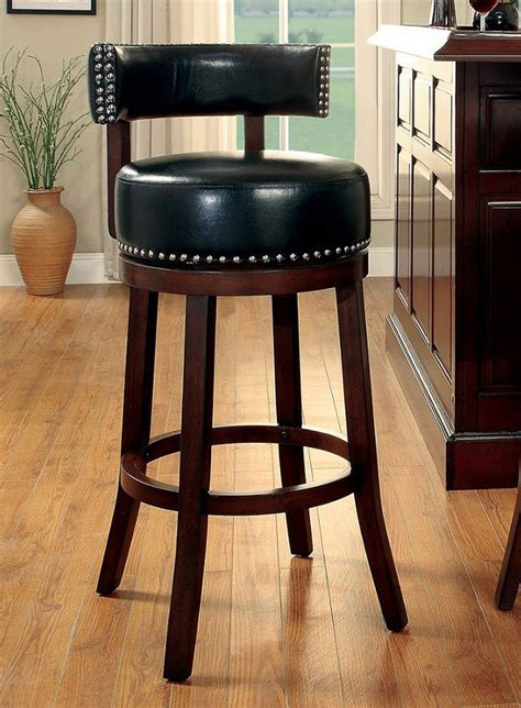 25 Inch Swivel Bar Stools by Shirley 25 Inch Swivel Bar Stool Black Set Of 2 By