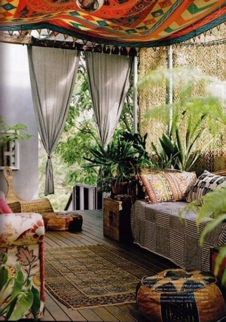 43 bohemian eclectic interior decorating 25 awesome bohemian living 26 adorable boho chic terrace designs digsdigs