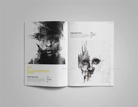 Portfolio Template By Vanroem Graphicriver Graphic Design Portfolio Template Indesign