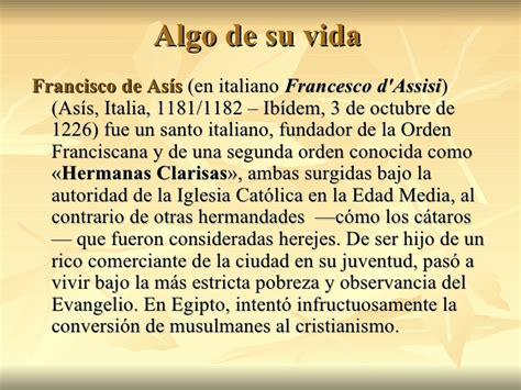 quien era san francisco de asis san francisco de asis