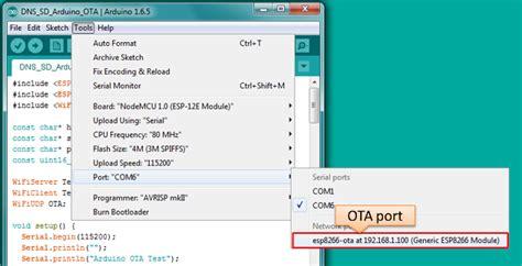 ota update 183 esp8266 arduino core