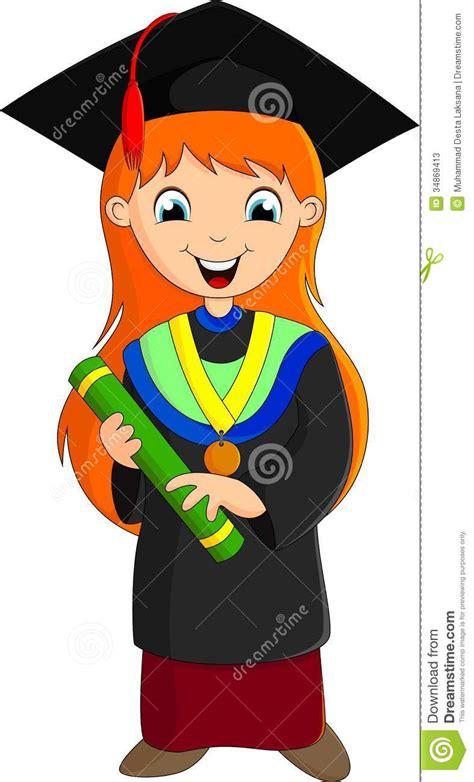 illustration graduation girl stock  image