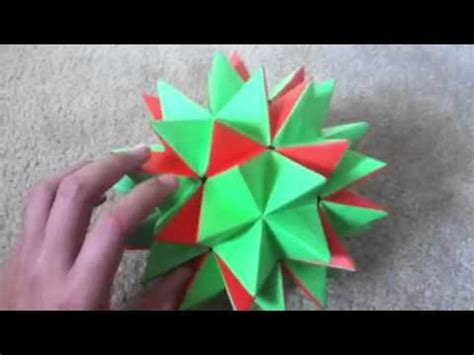 How To Make Transforming Origami - transforming paper origami spike