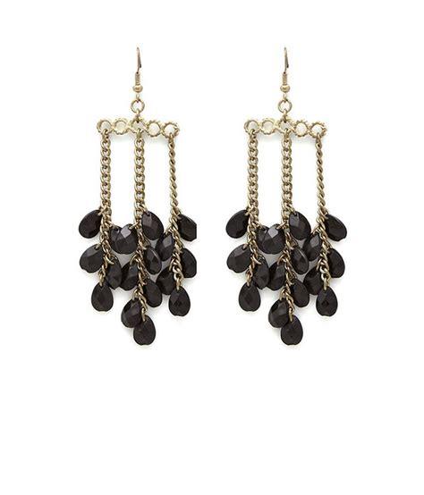 Beaded Chandelier Earrings Salt Black Beaded Chandelier Earrings Buy Salt Black Beaded Chandelier Earrings In India