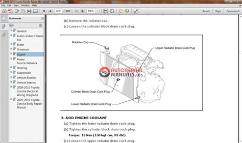 hayes auto repair manual 2010 toyota highlander engine control toyota corolla 2009 2010 workshop manual auto repair manual forum heavy equipment forums