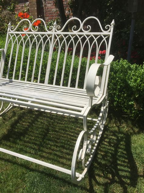 metal swing bench old metal swing bench recently sold brocantefrederic