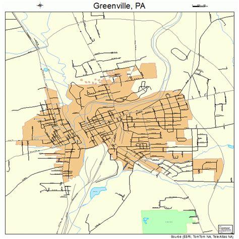 map of greenville greenville pennsylvania map 4231328