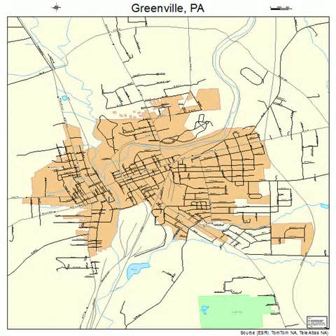 greenville pennsylvania map 4231328