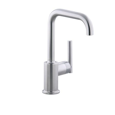 kohler purist kitchen faucet kohler purist single handle standard kitchen faucet with secondary swing spout in vibrant