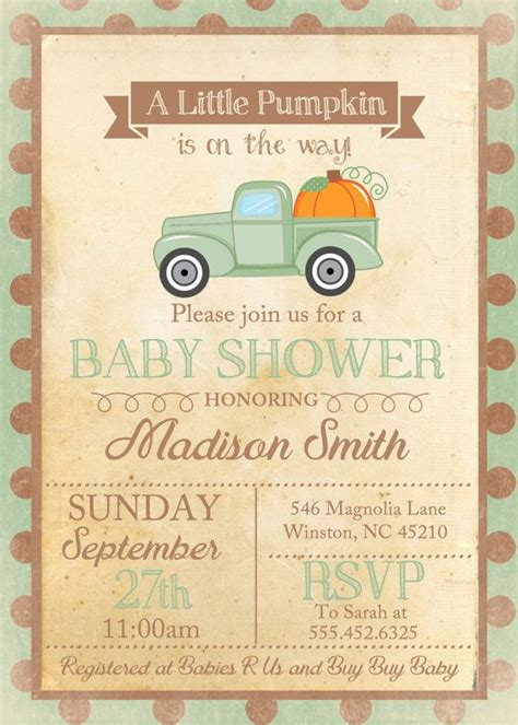 Fall Baby Shower Invites by 25 Best Ideas About S Baby Showers On