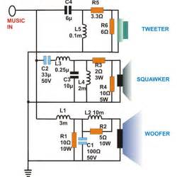 what are three way speaker crossovers crossover networks briefly described using circuit schematic